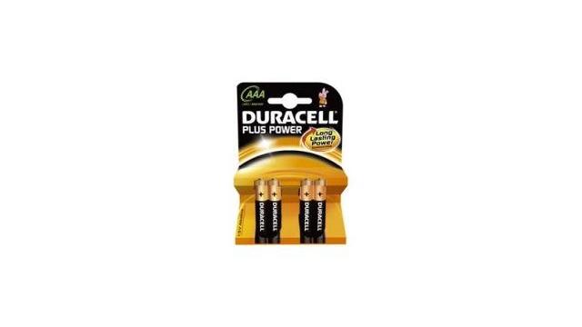 Duracell Plus Power Type-AAA Minipenlite Batterij 1,5volt 4stuks