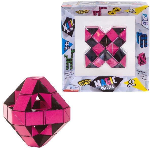 Met deze coole puzzel kun je van alles makengebruik jouw fantasieclown magic puzzle in de kleur rozebestaat ...